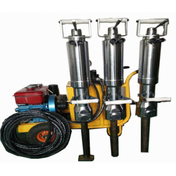 Electric hydraulic rock splitting machine