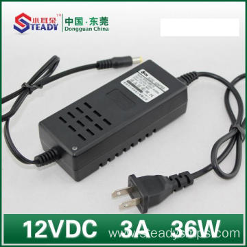 Desktop Type Power Adapter 12VDC 3A