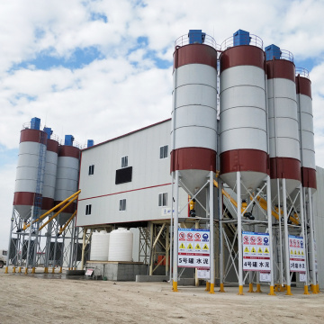 Portable HZS120 ready mixed concrete batching plant
