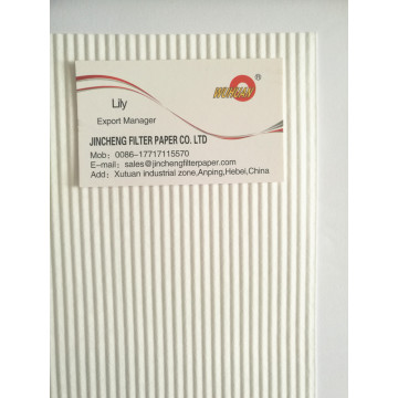 White Corrugated Heavy Duty Air Filter Paper