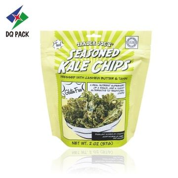 Chips doypack with zipper aluminum foil packaging bag