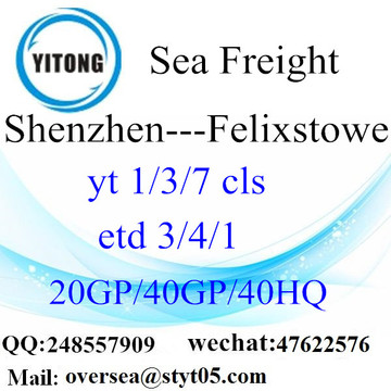 Shenzhen Port Sea Freight Shipping To Felixstowe
