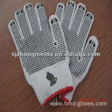 white cotton hand gloves pvc dot