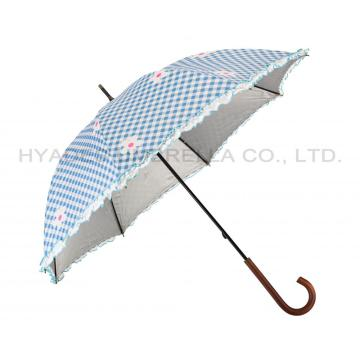 Cute Ruffle Lace Women's Straight Umbrella