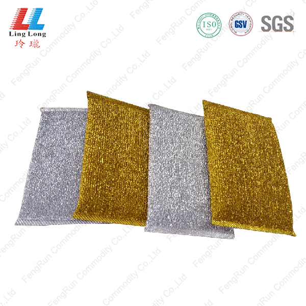 Smooth basic golden silver washing sponge