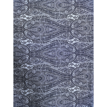 Black&White Rayon Twill 3024S Printing Woven Fabric