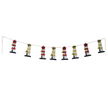 Christmas lighthouse shaped bunting banner