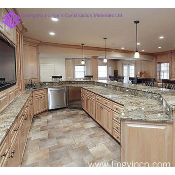 home furniture luxury solid wood kitchen cabinet design