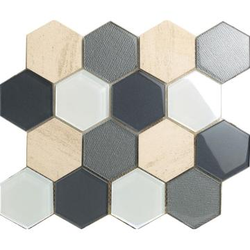 Big Size Material Mixed Hexagon Mosaic