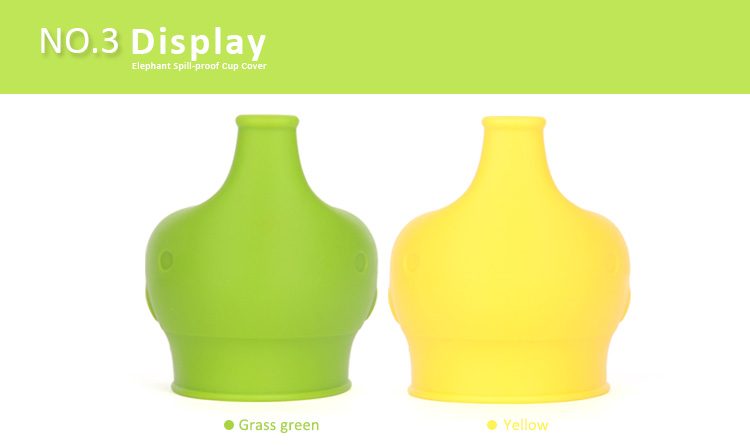 elelphant silicone baby sippy lids