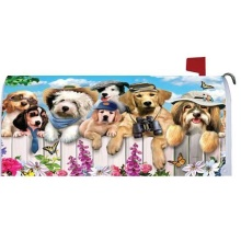 Custom outdoor magnetic Dogs magnet mailbox cover