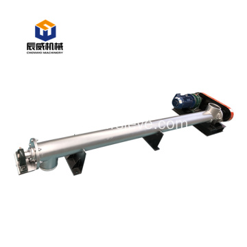 horizontal u trough slurry auger screw conveyor