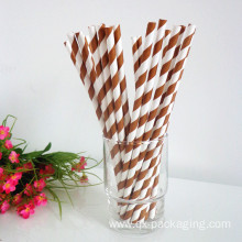 Brown paper drinking straws