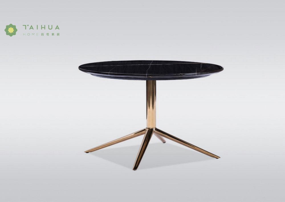 Round Coffe Tables Metal Legs