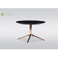 Round Marble Top Metal Legs Coffe Tables