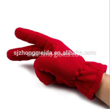 Professional for Winter Fleece Gloves custom unisex high quality red fleece gloves supply to Syrian Arab Republic Factory