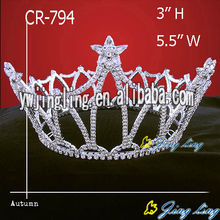 Rhinestone Star Full Round Crowns For Sale