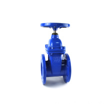 resilient seated 3 and 4 cast iron non rising stem gate valve with drawing