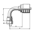 Union-one piece Hydraulic Hose Crimp Elbow Fittings