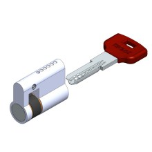 Single sided computer key cylinder lock 6 pin