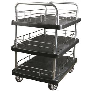 300kgs triple layers Platform Hand Trolley(black)