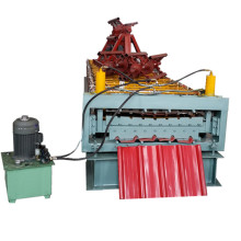 Double high speed trapezoidal roll forming machine