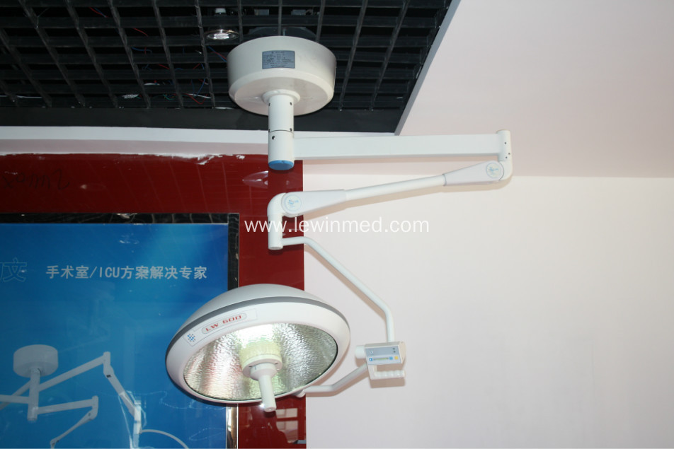 Single dome halogen surgery lamp