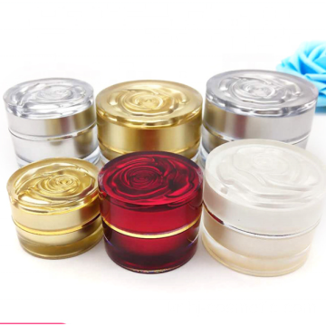 2019 NEW TYPE High quality flower acrylic cosmetic jars with good price