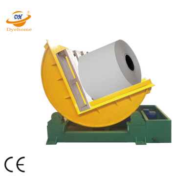 Motorised adjustable steel coil upender