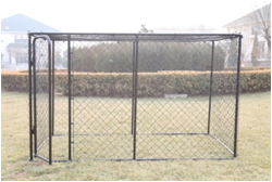 Portable Chain Link Dog Kennel