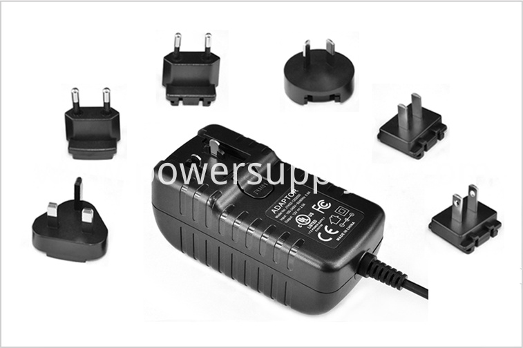 interchangeable plug power adapter