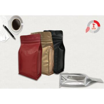 Half Pound Square Bottom Zipper Food Bag