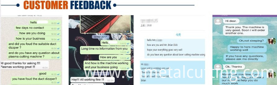 Plasma customer feedbck
