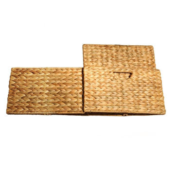 Hand-Woven Water Hyacinth Storage Baskets Hand-Woven Water Hyacinth Storage Baskets, 2-Pack