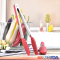 Silicone Cooking Food Serving BBQ Stainless Tongs with Steel Handle