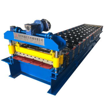 Trapezoidal roofing sheet roll forming making machine