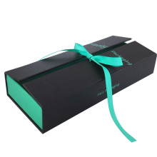 Exquisite Cardboard Hair Extension Packaging Box With Ribbon