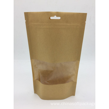 Biodegradable Kraft paper bag for coffee packaging