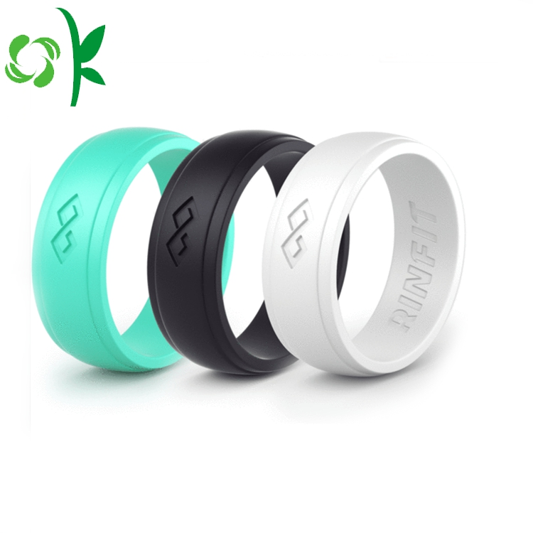 Debossed Silicone Wedding Ring