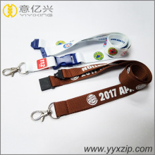 Custom Brown Hot Transfer Polyester Silkscreen Lanyard