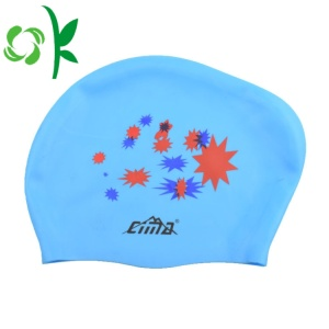 Silicone Swim Head Fashionable Printed Hats