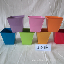 Professional factory selling for China Metal Flower Pot,Large Outdoor Flower Pots,Garden Flower Pots Manufacturer Square Balcony Garden Plant Container supply to Indonesia Factory