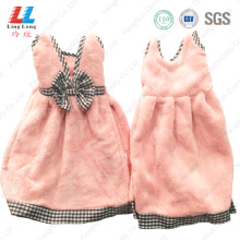 Beautiful bowknot style hand dry sponge towel