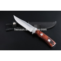 Brown Pakka Wood Star Pattern Hunting Knife