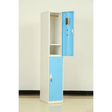 steel 2 tire blue door locker
