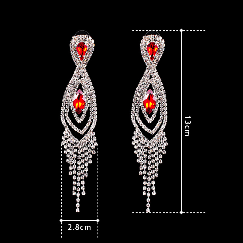 Women Red Vintage Fashion Europe Drop Earrings