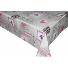 Pvc Printed fitted table covers Runner Pink