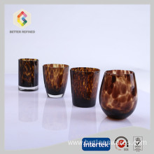 Factory Promotional for Glass Double Wall Tumbler hot sale crystal wine glasses with leopard print supply to Liberia Manufacturers