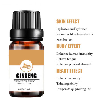 100% Pure herbal medicine ginseng essential oil
