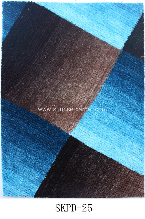 Polyester Rugs with loop and colorful design